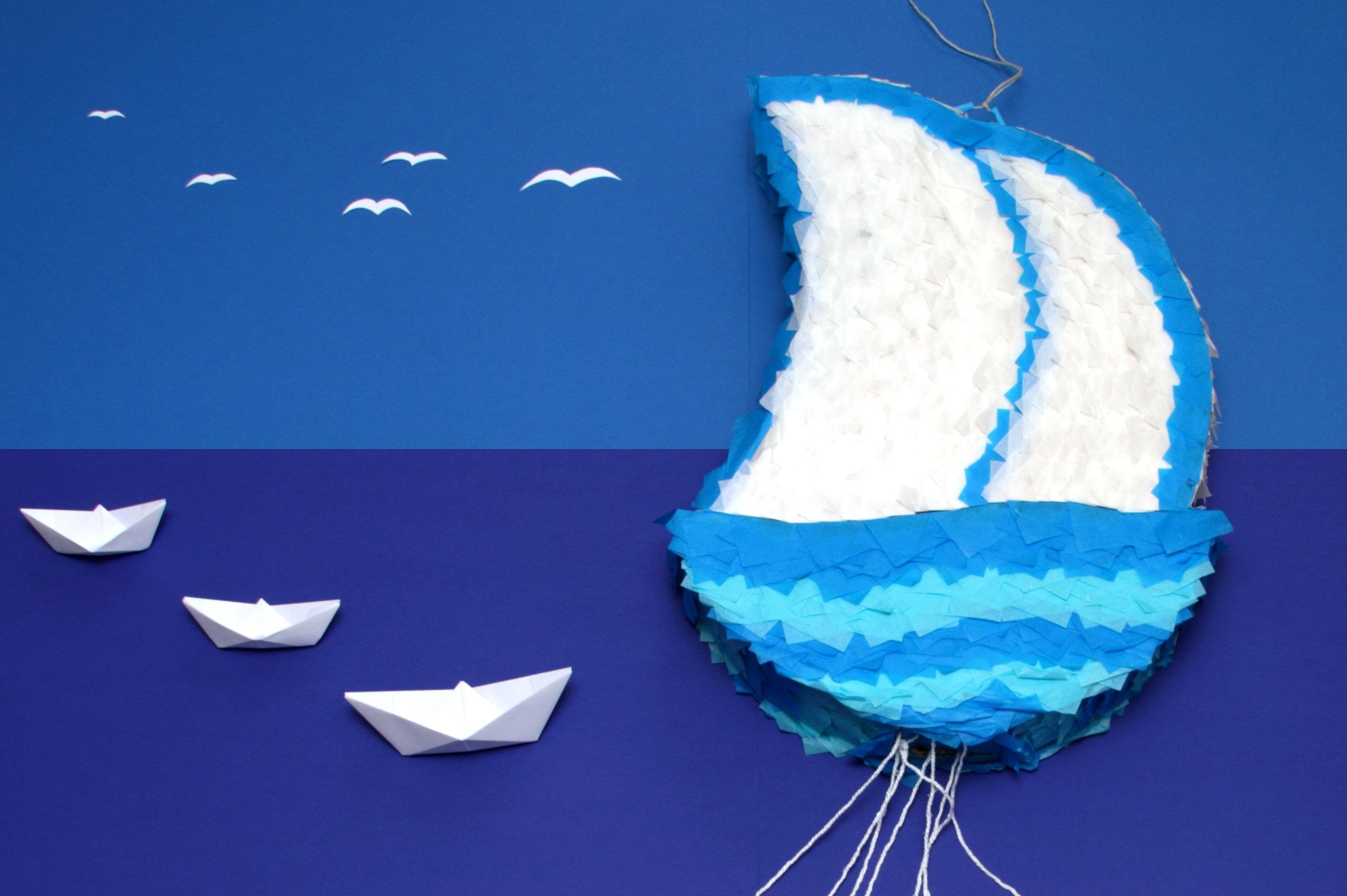 DIY Piñata bateau